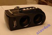 Разветвитель Двойник 12-24V USB 1x0.5A 201 Разветвители для прикуривателя, Двойник прикуривателя