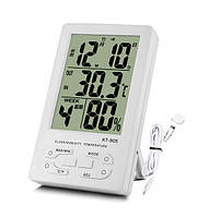 Цифровой термометр-гигрометр TS KT 905 с наружным  датчиком    .  dr