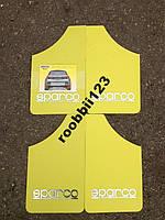 Брызговики ВАЗ 2101 2102 2103 2104 2105 2106 2107 sparco (4шт) желтые