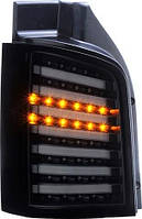 Фары оптика задние Volkswagen T5 черн/тон/LED LUX