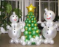 Снеговики из воздушных  шаров