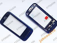 Тачскрин Nokia C6-00 сенсор рамка кнопки black