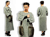 Пальто  / трикотаж, исскуственный мех / Украина, фото 1