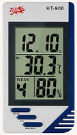 Термометр-гигрометр TS KT 906 (изм. температуру и влажность, часы)     .  dr