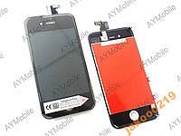 Дисплей тачскрин рамка iPhone 4s black OrigPASS