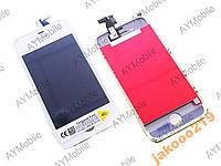Дисплей тачскрин рамка iPhone 4s White OrigPASS
