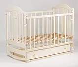 Дитяче ліжечко Laska Napoleon Наполеон New на поздовжньому маятнику з ящиком, фото 6