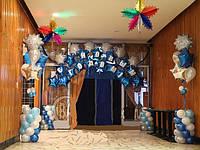 Новогодние арки и гирлянлы из шаров