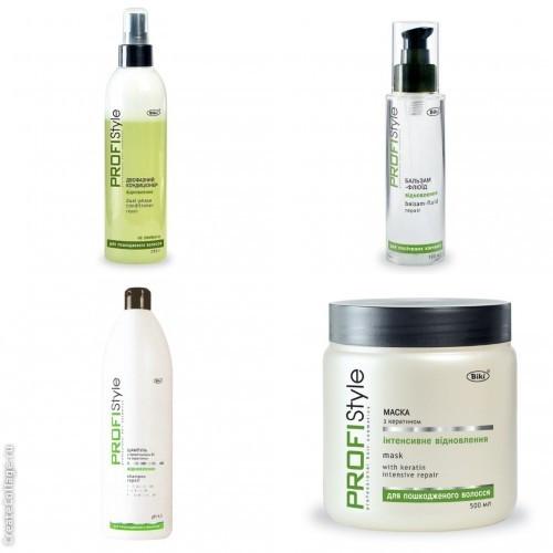 Восстановление для сухих и поврежденных волос с кератином