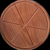 Доска разделочная под пиццу с делениями 24 см