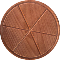 Доска разделочная под пиццу с делениями  30 см