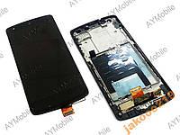 Дисплей LG D820 Google Nexus 5 тачскрин и рамка