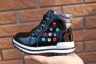 Демисезонные ботинки для девочки 22 р - 27 весенние кроссовки для девочк