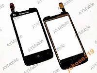 Сенсорное стекло Lenovo A390t 3G тач black
