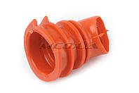 """Патрубок воздушного фильтра  на скутер   Honda DIO AF34/35   """"KOMATСU""""   (красный)"""