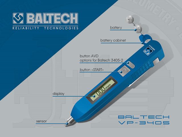 BALTECH VP-3405 - Виброметры, измерение общего уровня вибрации, датчик вибрации, тренды вибрации - BALTECH в Киеве