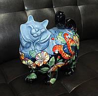 Фарфоровая статуэтка Кошка (Pavone) JP-11/28