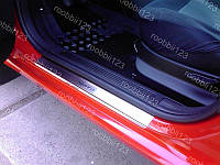 Накладки на пороги Nissan X-Trail T30 (2000-2007) (Nat) Premium