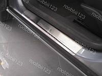 Накладки на пороги Opel Astra H HB (3 двери) (2004->) (Nat) Premium