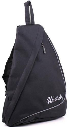 Рюкзак однолямочный городской Wallaby, 170 чёрный