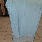 Шарф шелковый голубой гофре, фото 5