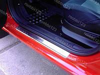 Накладки на пороги Ford Transit (2000-2006) (Nat) Premium