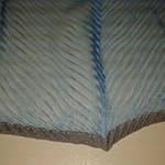 Шарф шелковый голубой гофре, фото 4