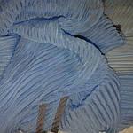 Шарф шелковый голубой гофре, фото 3