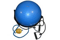 BOSU BALL с двумя эспандерами