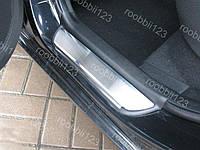 Накладки на пороги Kia Ceed (5 дверей) (2006-2012) (Nat) Premium