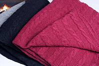 Шерстяной вязаный плед в подарочной упаковке украинского производства. Теплый, мягкий.
