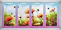 """Картина со стразами 5D """"Квадриптих. Полевые цветы"""" Размер: 168*78см Код 198466"""