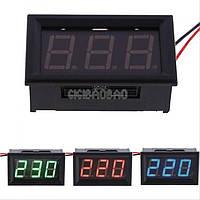 Цифровой вольтметр переменного тока 220 В Красный