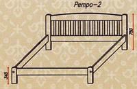 """Кровать """"Ретро-2"""" из массива ольхи (Темп)"""