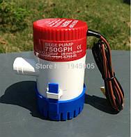 Дренажный водяной насос, GPH-1100,12В, 36Вт