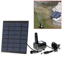Фонтан на солнечной батарее, насос