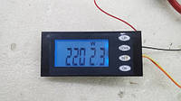 Измеритель параметров тока, ваттметр, AC 220В,20А с кнопками