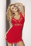 Ночная сорочка с кружевами Paulina TM Dkaren (Польша) Цвет красный