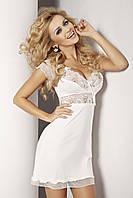 Шикарная ночная сорочка Paulina TM Dkaren (Польша) Цвет молочный