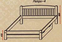 """Кровать """"Ретро-4"""" из массива ольхи (Темп)"""