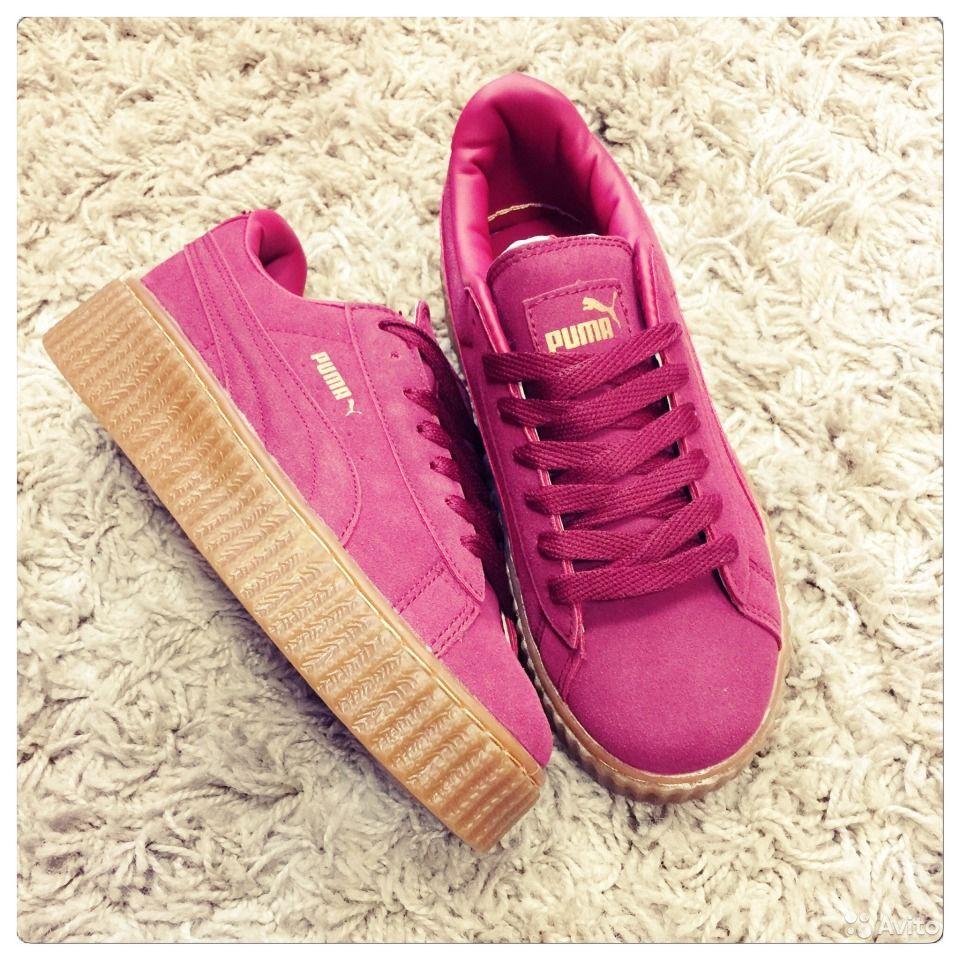 ★ Купить Кроссовки Puma Rihanna x Puma 900440 малиновые женские ★  Интернет-магазин ♥Твой ... 330577e0773