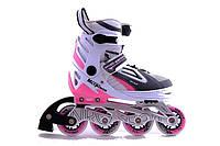 Раздвижные ролики для детей NRG PW-132B-10 S розовые