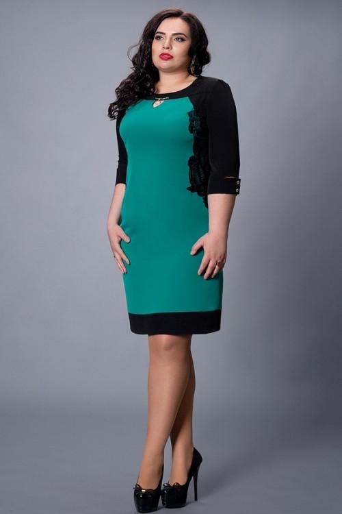 cf7fe39222b Красивое платье большого размера приталенный силуэт с кружевом -  Оптово-розничный магазин одежды