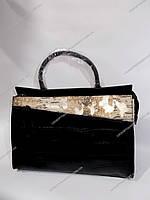 """Сумка женская кожа (32х27 см.) (1 ручка) """"Gold"""" RH-263"""