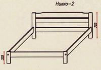"""Кровать """"Никко-2"""" из массива ольхи (Темп)"""
