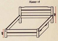 """Кровать """"Никко-4"""" из массива ольхи (Темп)"""