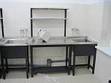 Мойка двух секционная из нержавеющей стали, фото 4