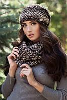 Комплект шапка и шарф-восьмерка 4331-8