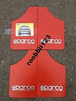 Брызговики ВАЗ 2101 2102 2103 2104 2105 2106 2107 sparco (4шт) красные
