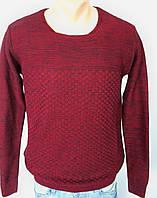Турецкий мужской свитер бордовый